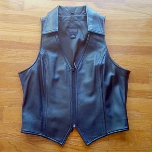 Wilson Leather Vest Sz M Fitted Zip Front NWOT